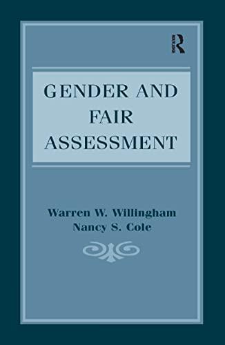 9781138974944: Gender and Fair Assessment