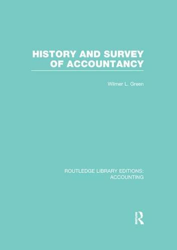 9781138976078: History and Survey of Accountancy (RLE Accounting) (Routledge Library Editions: Accounting)