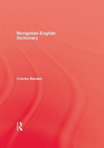 9781138976368: Mongolian English Dictionary