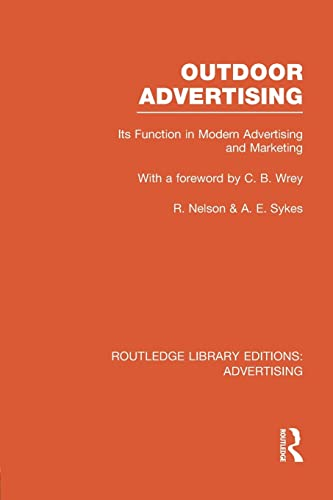 9781138977846: Outdoor Advertising (Routledge Library Editions: Advertising)