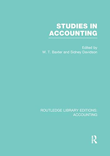 9781138983168: Studies in Accounting (Routledge Library Editions: Accounting)