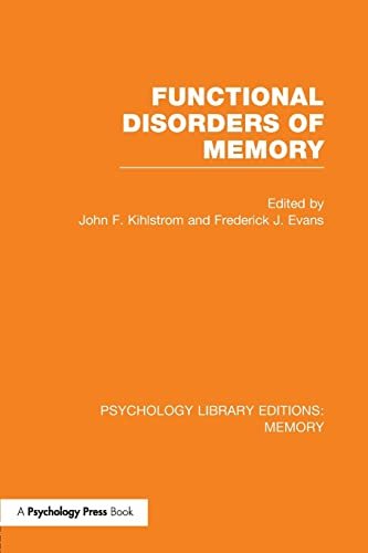 9781138991811: Functional Disorders of Memory (PLE: Memory) (Psychology Library Editions: Memory)