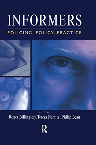 9781138992481: Informers: Policing, policy, practice