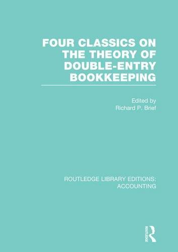 9781138993099: Four Classics on the Theory of Double-Entry Bookkeeping (RLE Accounting) (Routledge Library Editions: Accounting)