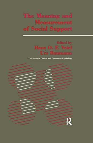 9781138995727: The Meaning And Measurement Of Support