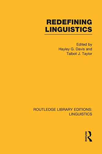 9781138997127: Redefining Linguistics (Routledge Library Editions: Linguistics)