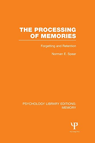 9781138998063: The Processing of Memories (PLE: Memory): Forgetting and Retention (Psychology Library Editions: Memory)