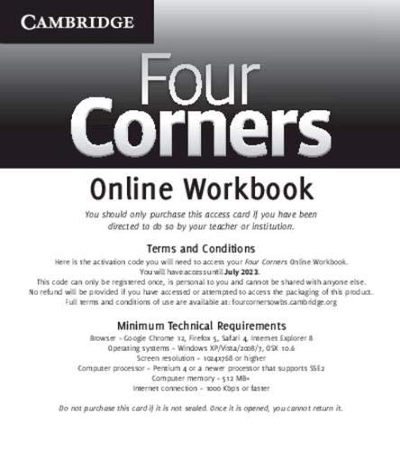 9781139061520: Four Corners Level 1 Online Workbook (Standalone for Students)