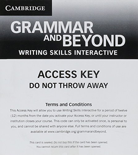 9781139061889: Grammar and Beyond Level 4 Writing Skills Interactive for Blackboard