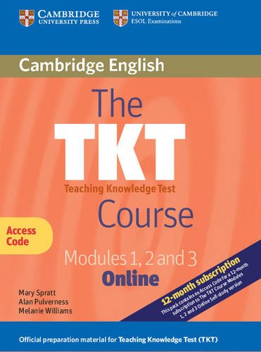 9781139105705: The TKT Course Modules 1, 2 and 3 Online (Trainee Version Access Code Card)