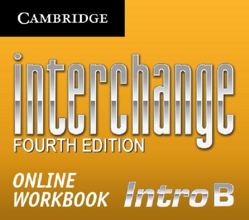 9781139397339: Interchange Intro Online Workbook B (Standalone for Students) (Interchange Fourth Edition)
