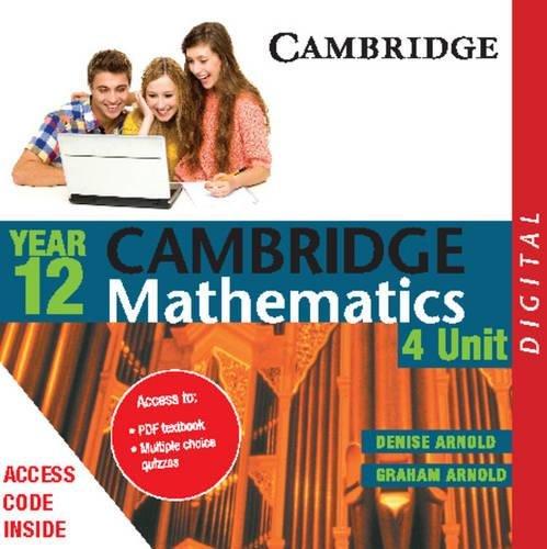 9781139520669: Cambridge 4 Unit Mathematics Year 12 PDF Textbook