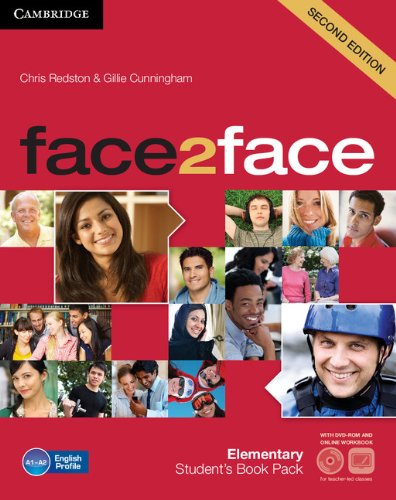 9781139566537: face2face Elementary Student's Book with DVD-ROM and Online Workbook Pack