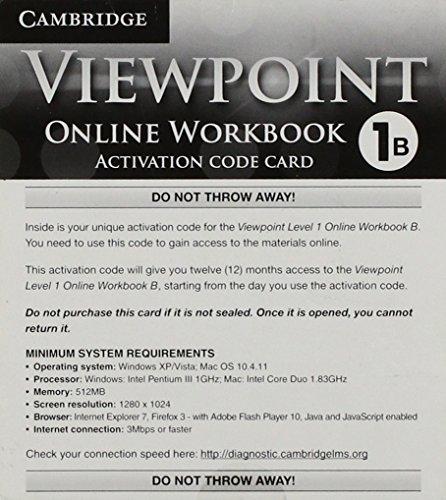 9781139814072: Viewpoint Level 1 Wkbk B Online Access Card