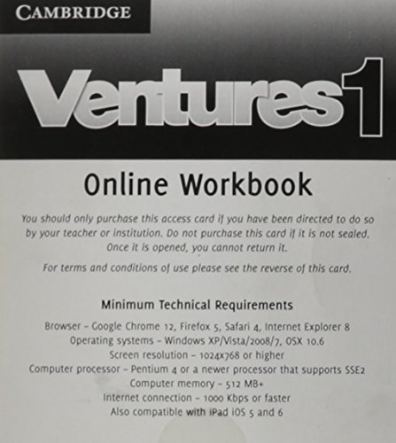 9781139897204: Ventures Level 1 Online Workbook (Standalone for Students)
