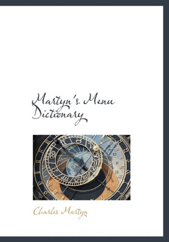 9781140026709: Martyn's Menu Dictionary