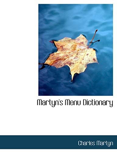 9781140026716: Martyn's Menu Dictionary