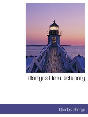9781140026723: Martyn's Menu Dictionary