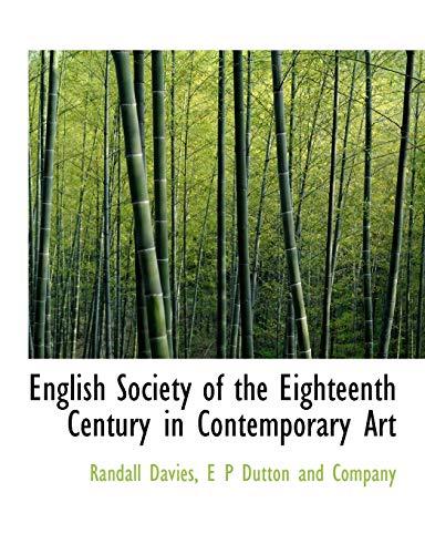English Society of the Eighteenth Century in: Randall Davies