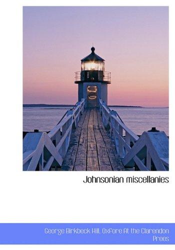9781140253549: Johnsonian miscellanies