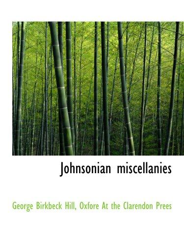 9781140253563: Johnsonian miscellanies