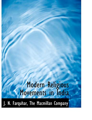 9781140282549: Modern Religious Movements in India