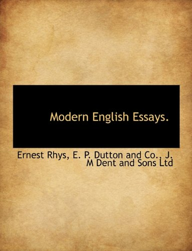 9781140282624: Modern English Essays.