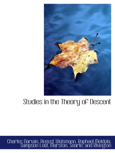 9781140303091: Studies in the Theory of Descent