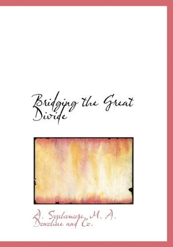 Bridging the Great Divide: A. Sophomore, M.