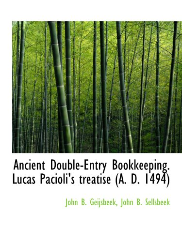9781140312680: Ancient Double-Entry Bookkeeping. Lucas Pacioli's treatise (A. D. 1494)