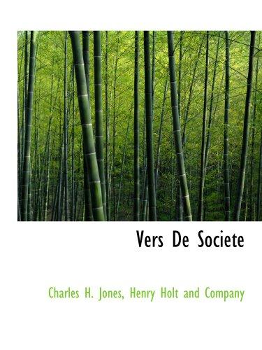9781140368731: Vers De Societe