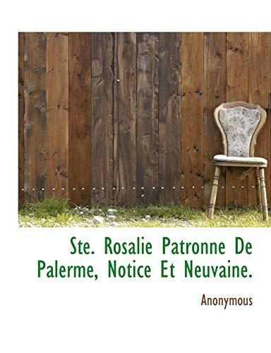 9781140493464: Ste. Rosalie Patronne de Palerme, Notice Et Neuvaine.