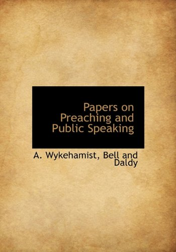 9781140523291: Papers on Preaching and Public Speaking