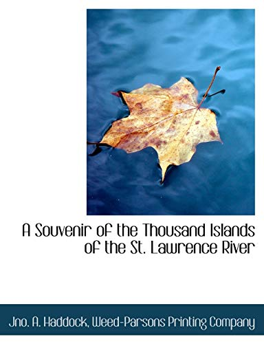 9781140537670: A Souvenir of the Thousand Islands of the St. Lawrence River