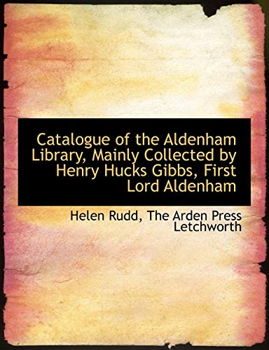 Catalogue of the Aldenham Library, Mainly Collected: Rudd, Helen; The