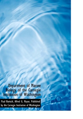 9781140616757: Department of Marine Biology of the Carnegie Institution of Washington