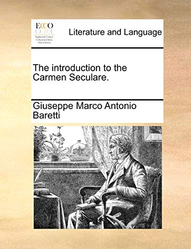 9781140790983: The introduction to the Carmen Seculare.