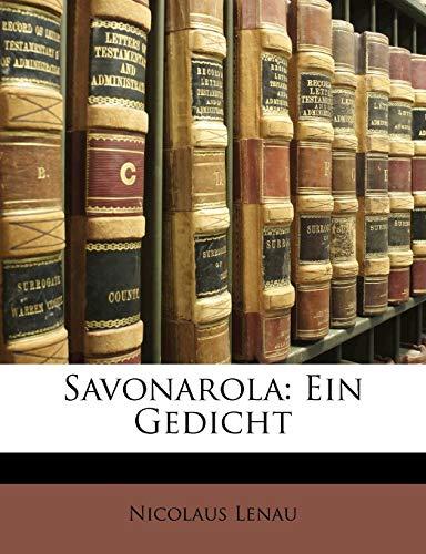 9781141854141: Savonarola: Ein Gedicht