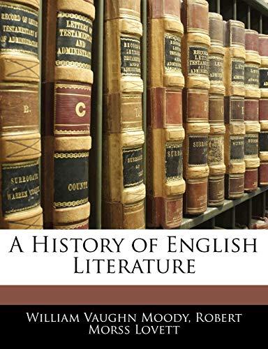 9781142358891: A History of English Literature