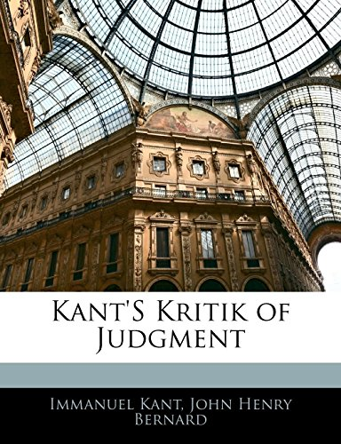 Kant's Kritik of Judgment (1142876845) by Immanuel Kant; John Henry Bernard