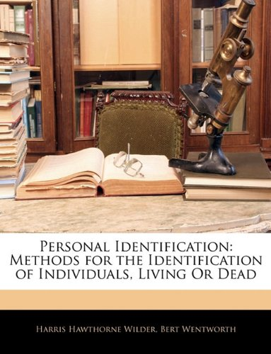 9781142964146: Personal Identification: Methods for the Identification of Individuals, Living Or Dead