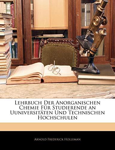 9781143028021: Lehrbuch Der Anorganischen Chemie F�r Studierende an Uuniversit�ten Und Technischen Hochschulen