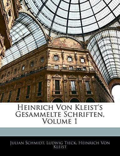 9781143346842: Heinrich Von Kleist's Gesammelte Schriften (German Edition)