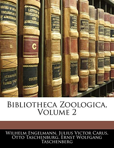9781143360886: Bibliotheca Zoologica, Volume 2 (German Edition)