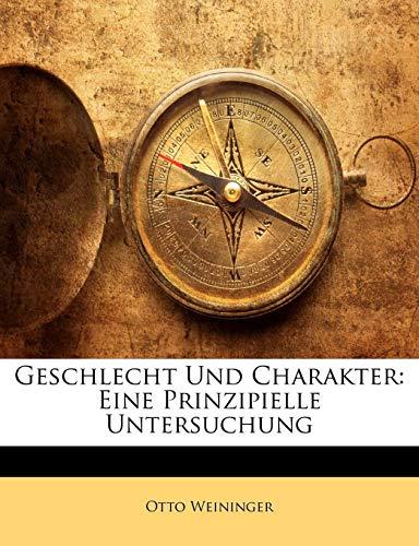 9781143689000: Geschlecht Und Charakter: Eine Prinzipielle Untersuchung
