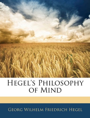 9781143980602: Hegel's Philosophy of Mind