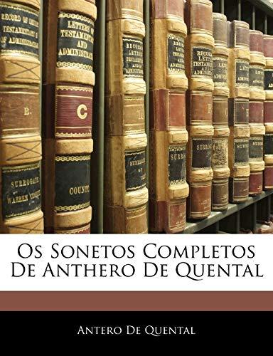 9781145055056: Os Sonetos Completos De Anthero De Quental (Portuguese Edition)