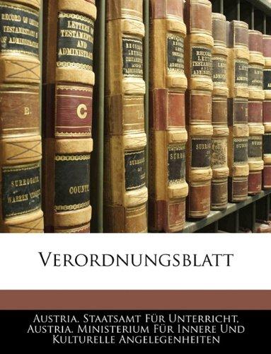 9781145062122: Verordnungsblatt