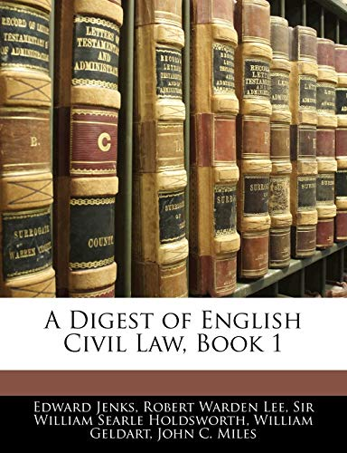A Digest of English Civil Law, Book