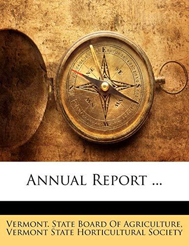 9781145776920: Annual Report ...